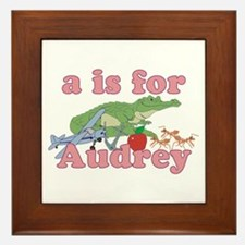A is for Audrey Framed Tile