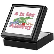A is for Audrey Keepsake Box