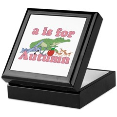 A is for Autumn Keepsake Box