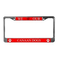 Red We Love Our Canaan Dogs Frame