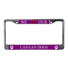 Purple We Love Our Canaan Dogs Frame
