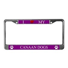 Purple I Love My Canaan Dogs Frame