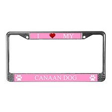 Pink I Love My Canaan Dog Frame