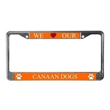 Orange We Love Our Canaan Dogs Frame