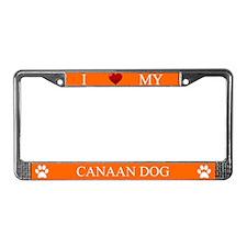 Orange I Love My Canaan Dog Frame