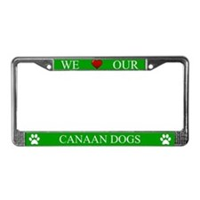 Green We Love Our Canaan Dogs Frame