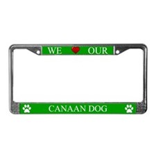 Green We Love Our Canaan Dog Frame
