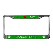 Green I Love My Canaan Dogs Frame