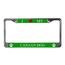 Green I Love My Canaan Dog Frame