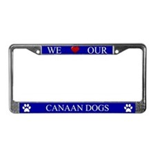 Blue We Love Our Canaan Dogs Frame