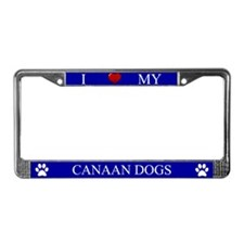Blue I Love My Canaan Dogs Frame
