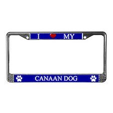 Blue I Love My Canaan Dog Frame