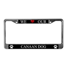 Black We Love Our Canaan Dog Frame