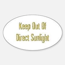 Direct Sunlight Oval Decal