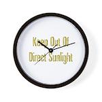 Direct Sunlight Wall Clock
