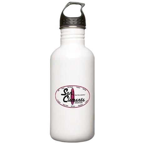 San Clemente Surf Spots Stainless Water Bottle 1.0