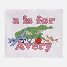 A is for Avery Throw Blanket
