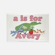 A is for Avery Rectangle Magnet