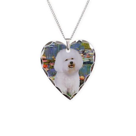 Llies & Bichon Necklace Heart Charm