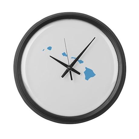 Baby Blue Hawaii Large Wall Clock