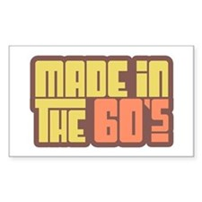 Made in the 60's Rectangle Decal