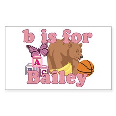 B is for Bailey Sticker (Rectangle)