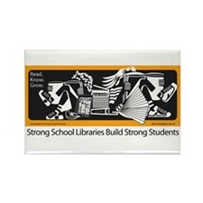 Strong School Libraries Rectangle Magnet