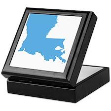 Baby Blue Louisiana Keepsake Box