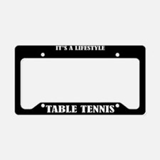 Table Tennis Sports License Plate Holder Frame