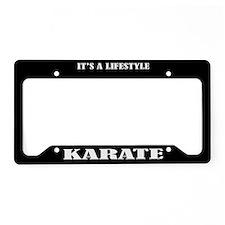 Karate Sports License Plate Holder Frame