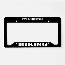 Hiking Gift License Plate Holder Frame