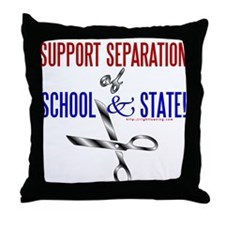 School-State Separation Throw Pillow