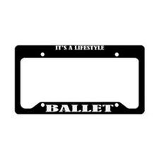 Ballet Gift License Plate Holder Frame