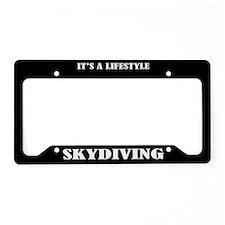 Skydiving Gift License Plate Holder Frame
