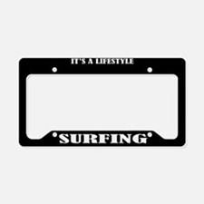 Surfing Sports License Plate Holder Frame