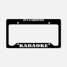 Karaoke Gift License Plate Holder Frame