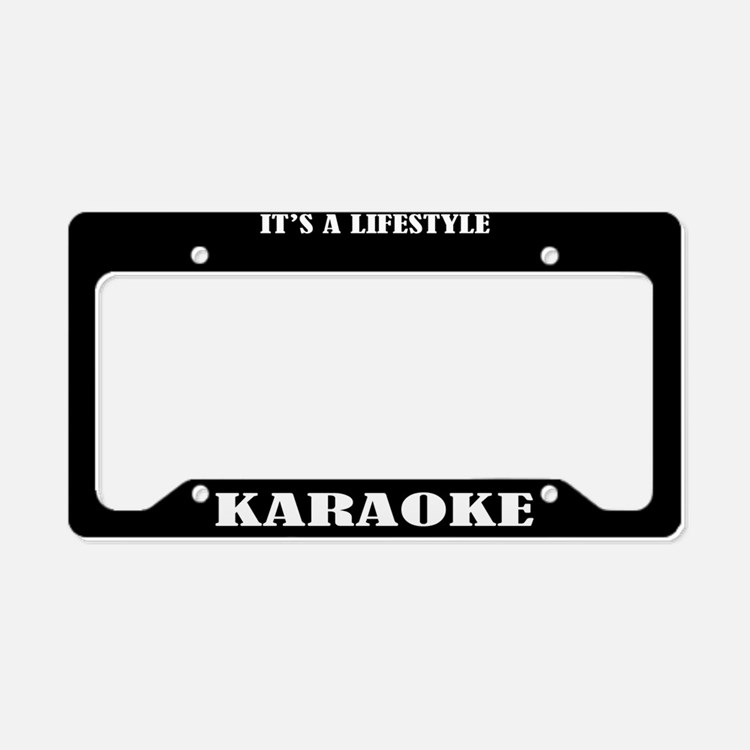 Karaoke Gift License Plate Holder Frame