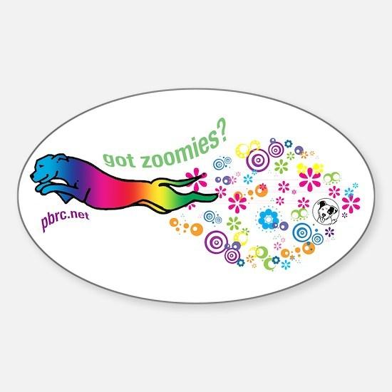 got zoomies? Sticker (Oval)