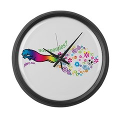 got zoomies? Large Wall Clock