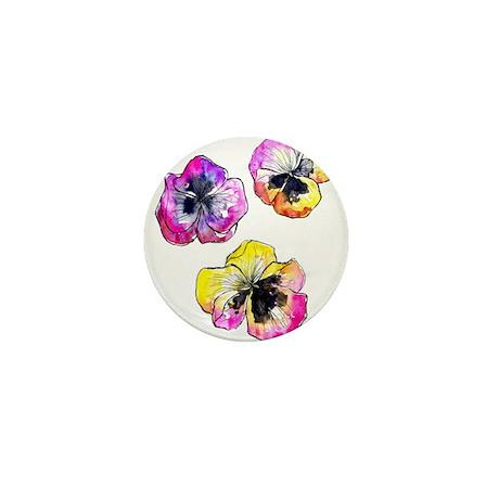 Pansies Mini Button