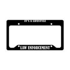 Law Enforcement Gift License Plate Holder Frame
