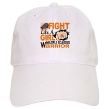 Fight Like A Girl Multiple Sclerosis Baseball Cap