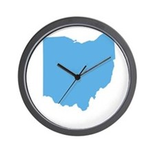 Baby Blue Ohio Wall Clock