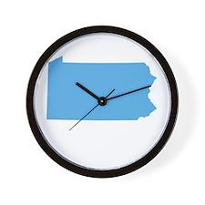 Baby Blue Pennsylvania Wall Clock