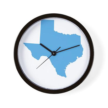Baby Blue Texas Wall Clock