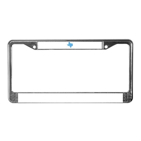 Baby Blue Texas License Plate Frame