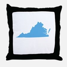 Baby Blue Virginia Throw Pillow