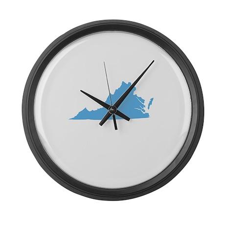 Baby Blue Virginia Large Wall Clock