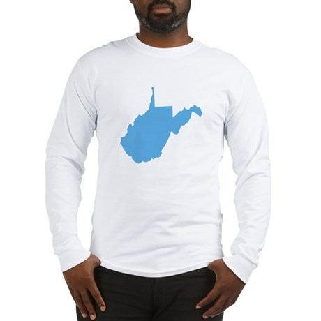Baby Blue West Virginia Long Sleeve T-Shirt