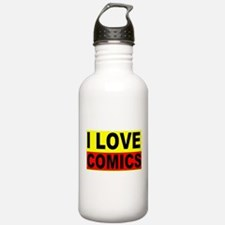 i love comics product Water Bottle